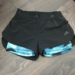 Adidas Shorts with Spandex Under Layer XS